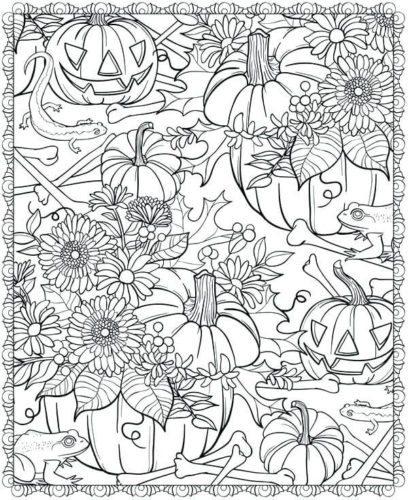 Pumpkin Patch Coloring Pages For Adults
