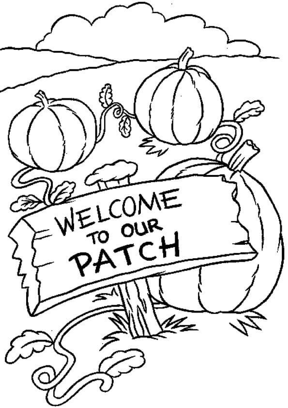 Pumpkin Patch Coloring Pages