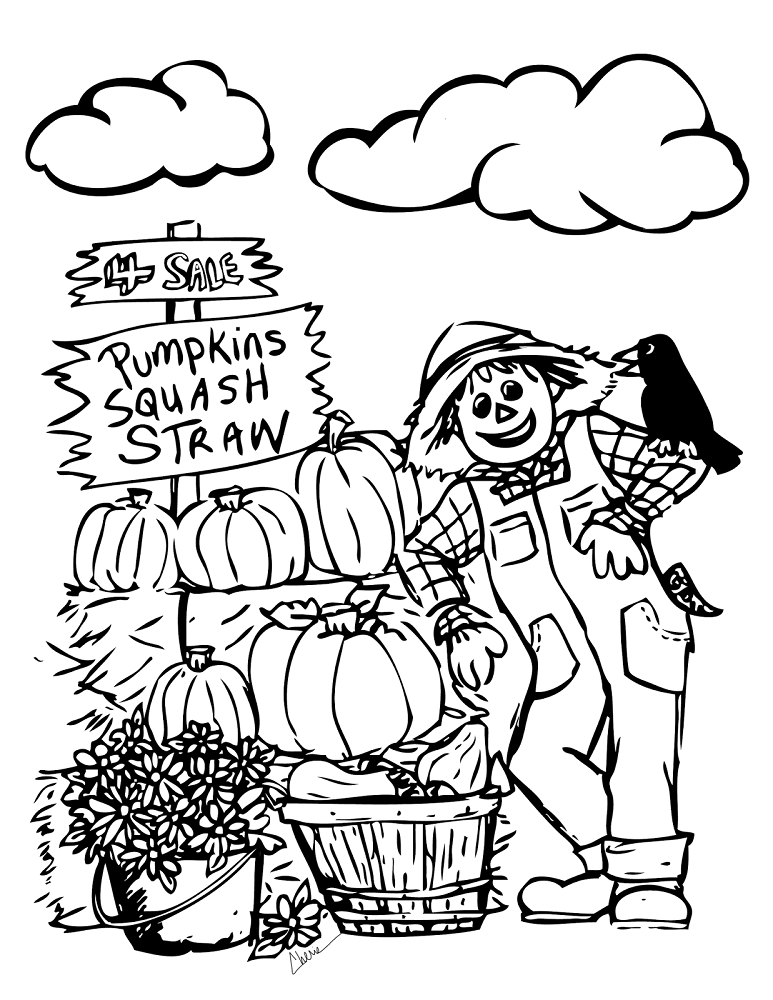 Pumpkin Patch Coloring Pictures To Print