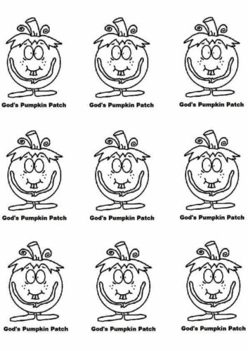 Pumpkin Patch Coloring Sheets