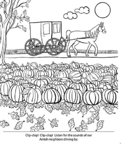Pumpkin Patch Colouring Pages