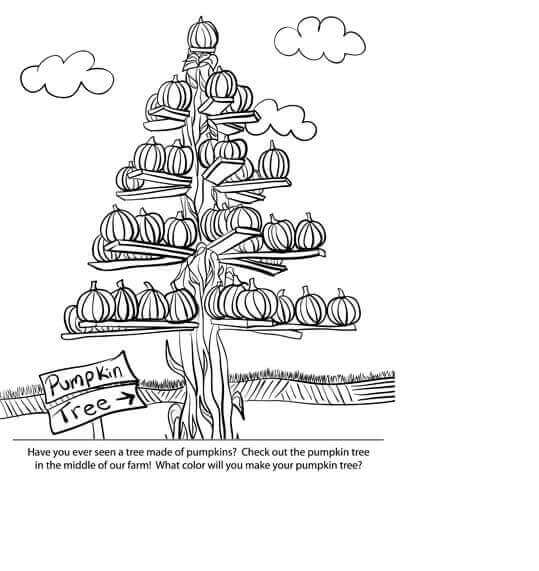 Pumpkin Tree Coloring Page