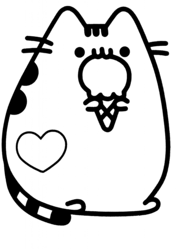 Pusheen Eating Ice Cream