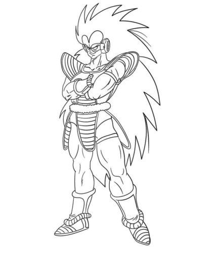 Raditz Dragon Ball Z Coloring Page