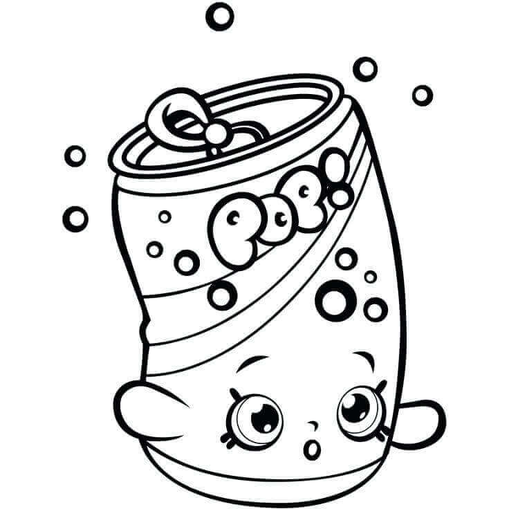 Soda Pop Can Coloring Page