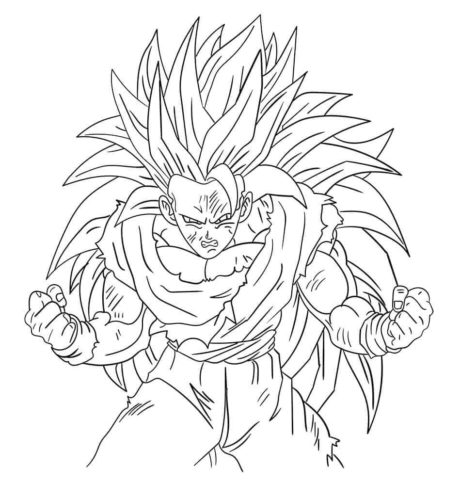 Super Saiyan 4 Coloring Pages