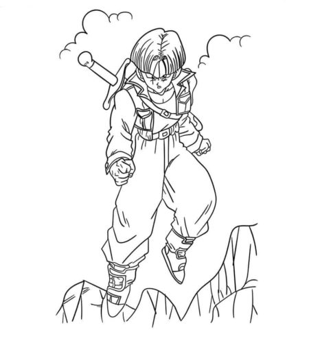 Trunks From Dragon Ball Z Coloring Page
