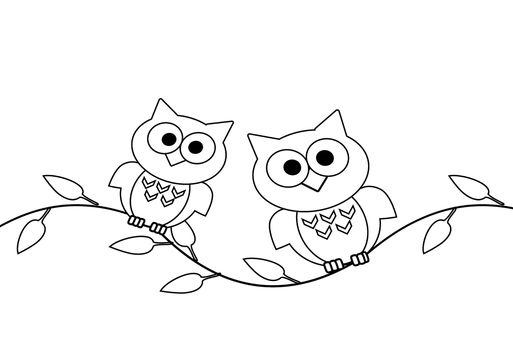 Two Owls On A Single Branch