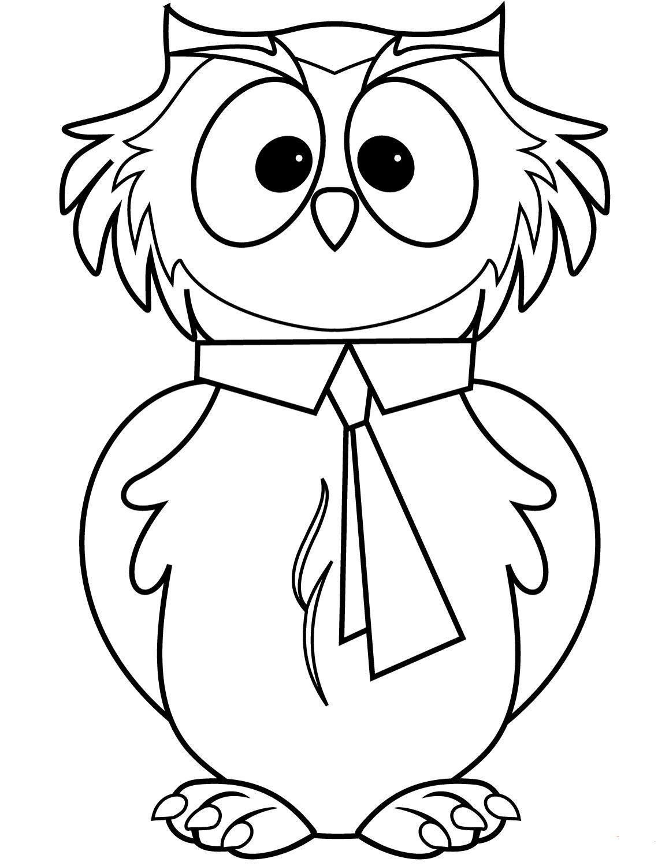 Умная сова раскраска для детей