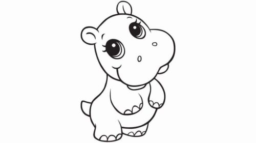 Hard Baby Animal Coloring Pages Coloring And Drawing