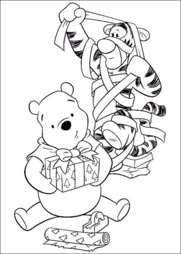 Christmas Disney Coloring Pages Printable