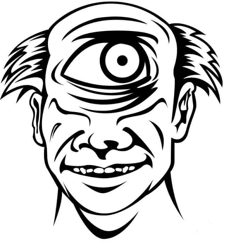 Cyclop Monster Coloring Page