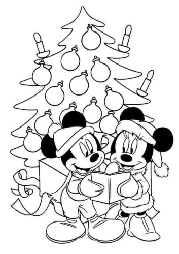 Disney Christmas Coloring Images
