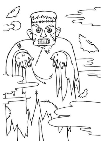 Frankenstein Monster Coloring Page
