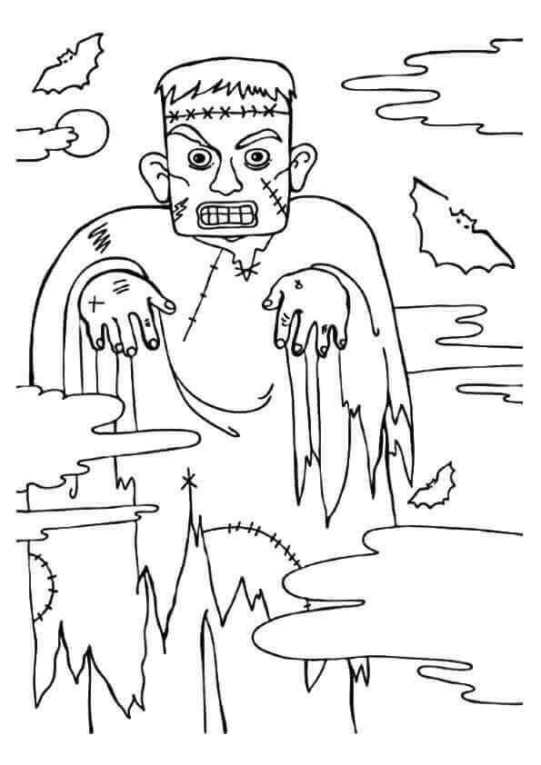 Frankenstein Monster Coloring Page
