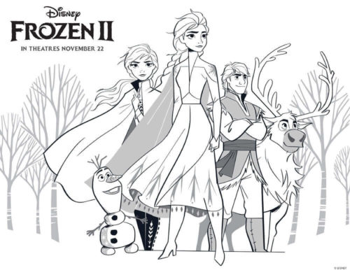 Free Printable Frozen 2 Coloring Pages