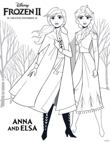 10 Free Printable Frozen 2 Coloring Pages