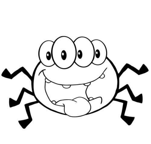Happy Four Eyed Spider