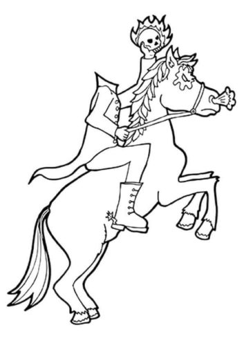 Headless Monster Coloring Page