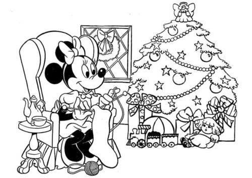 Free Disney Christmas Printable Coloring Pages for Kids | Mickey ... | 353x500