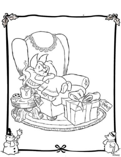 Piglet Sleeping On Christmas Eve
