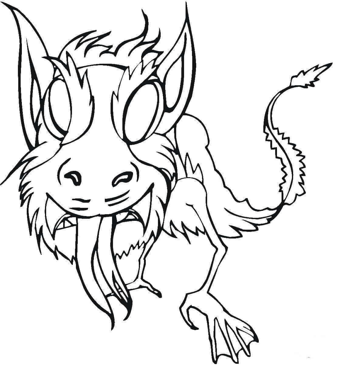 Scary Monster Coloring Page