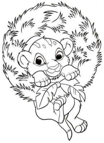 Simba Celebrating Christmas