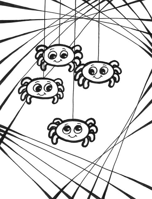 Spider Coloring Sheets