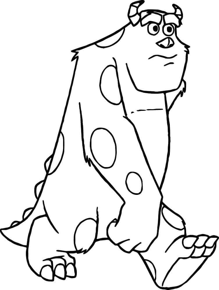 Sulley From Monster Inc Coloring Page