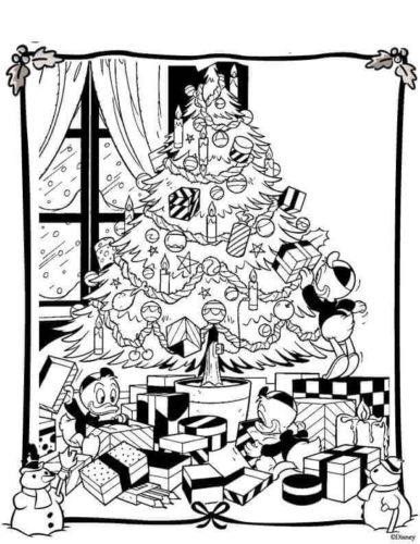 Xmas Disney Coloring Pages