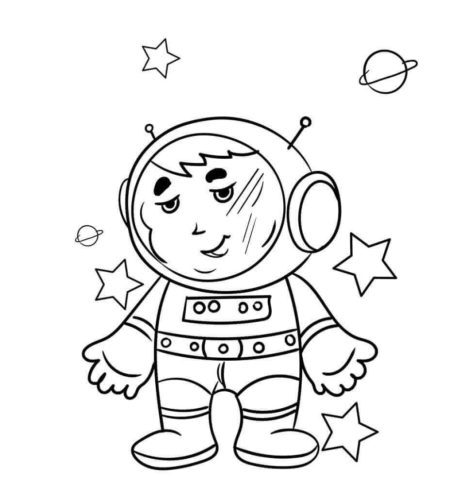 Astronaut Surrounded By Stars