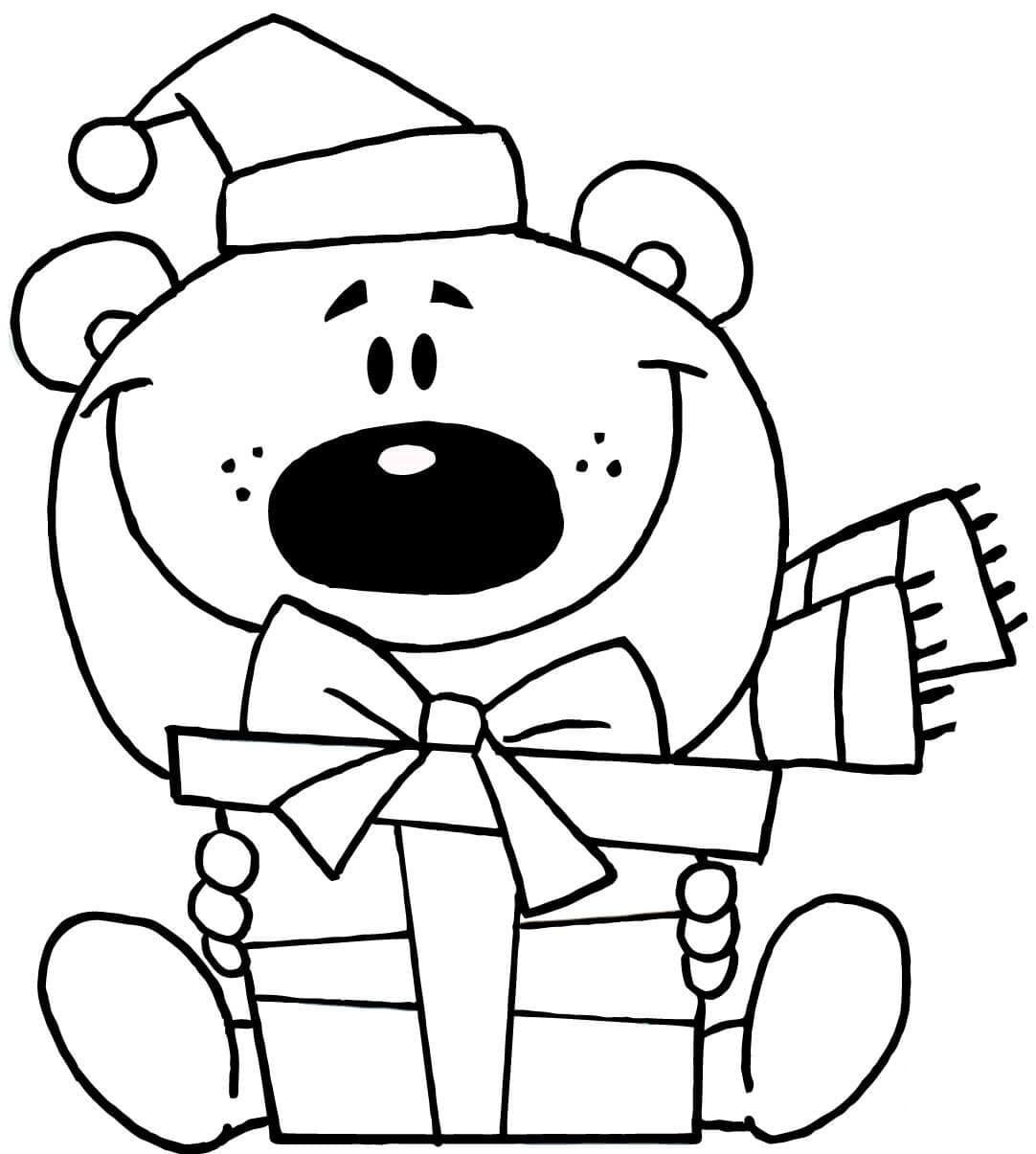 Bear With Christmas Gift