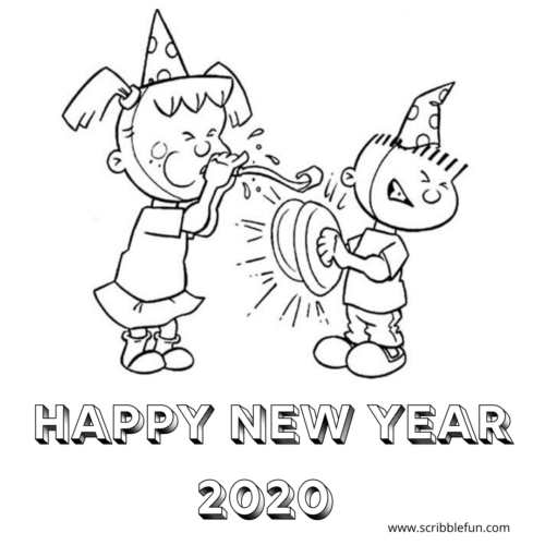 new years printable coloring pages – artgalleriesnewyork.com | 500x500