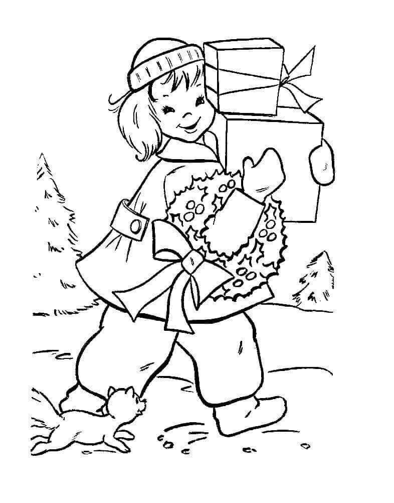 Christmas Presents Coloring Pictures