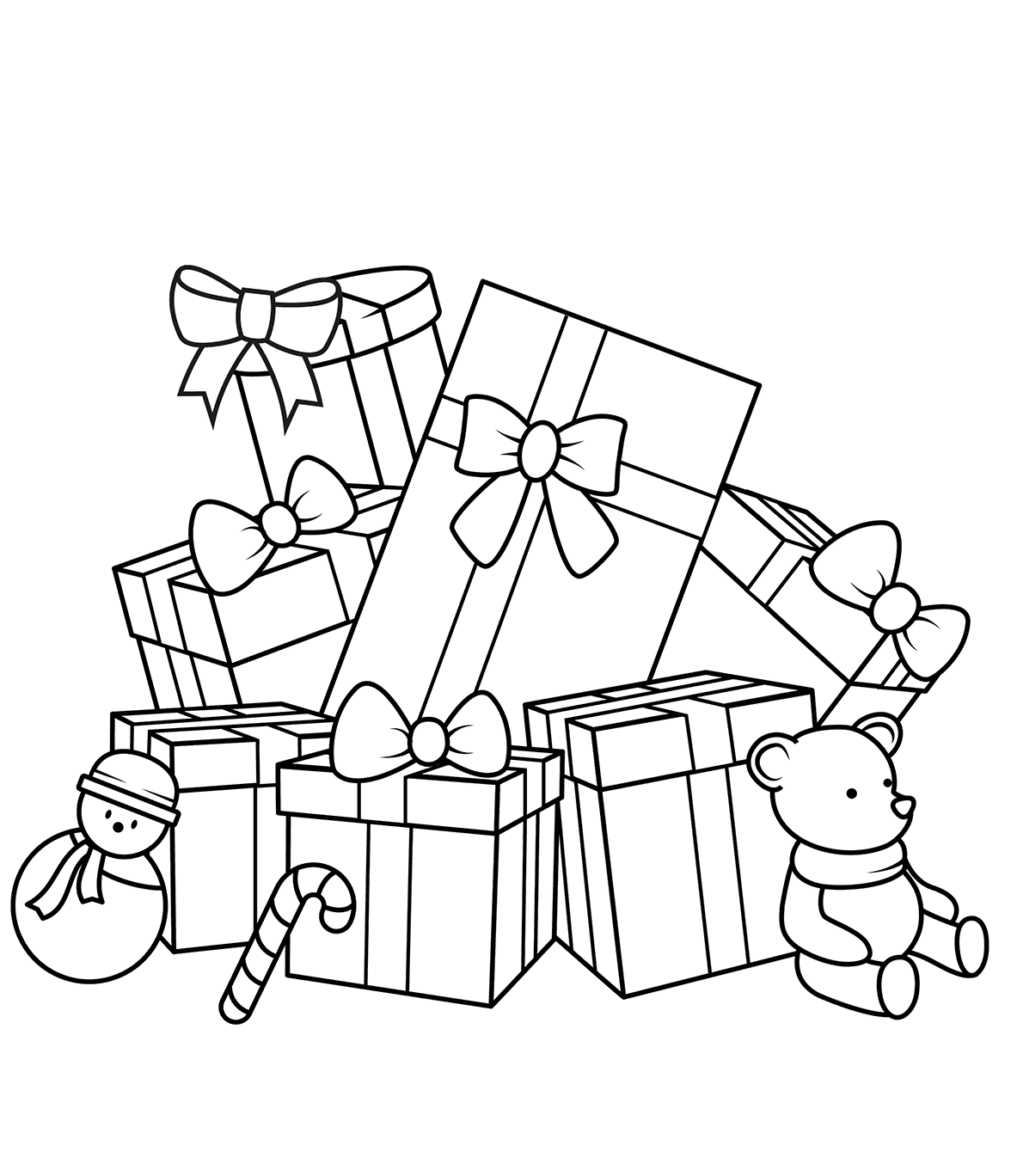 Free Printable Christmas Gifts Coloring Pages