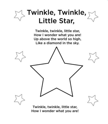 Printable Star Coloring Pages (With images) | Star coloring pages ... | 500x434