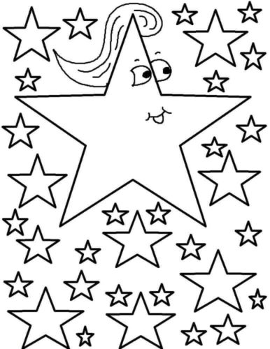 Funny Star Coloring Page