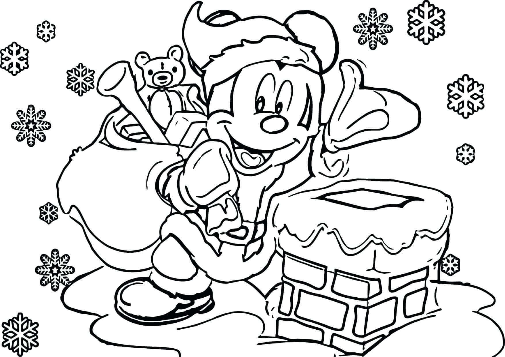 Mickey With Christmas Gifts