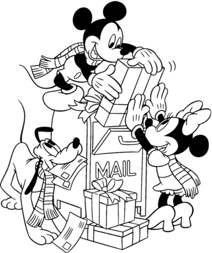 Mickey and Minnie All Set To Send The Christmas Gifts