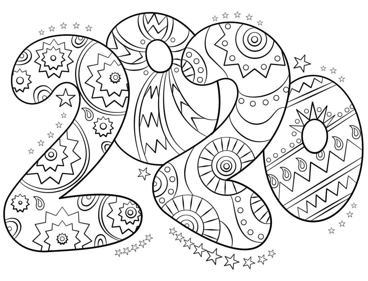 New Year 2020 Coloring Pictures To Print