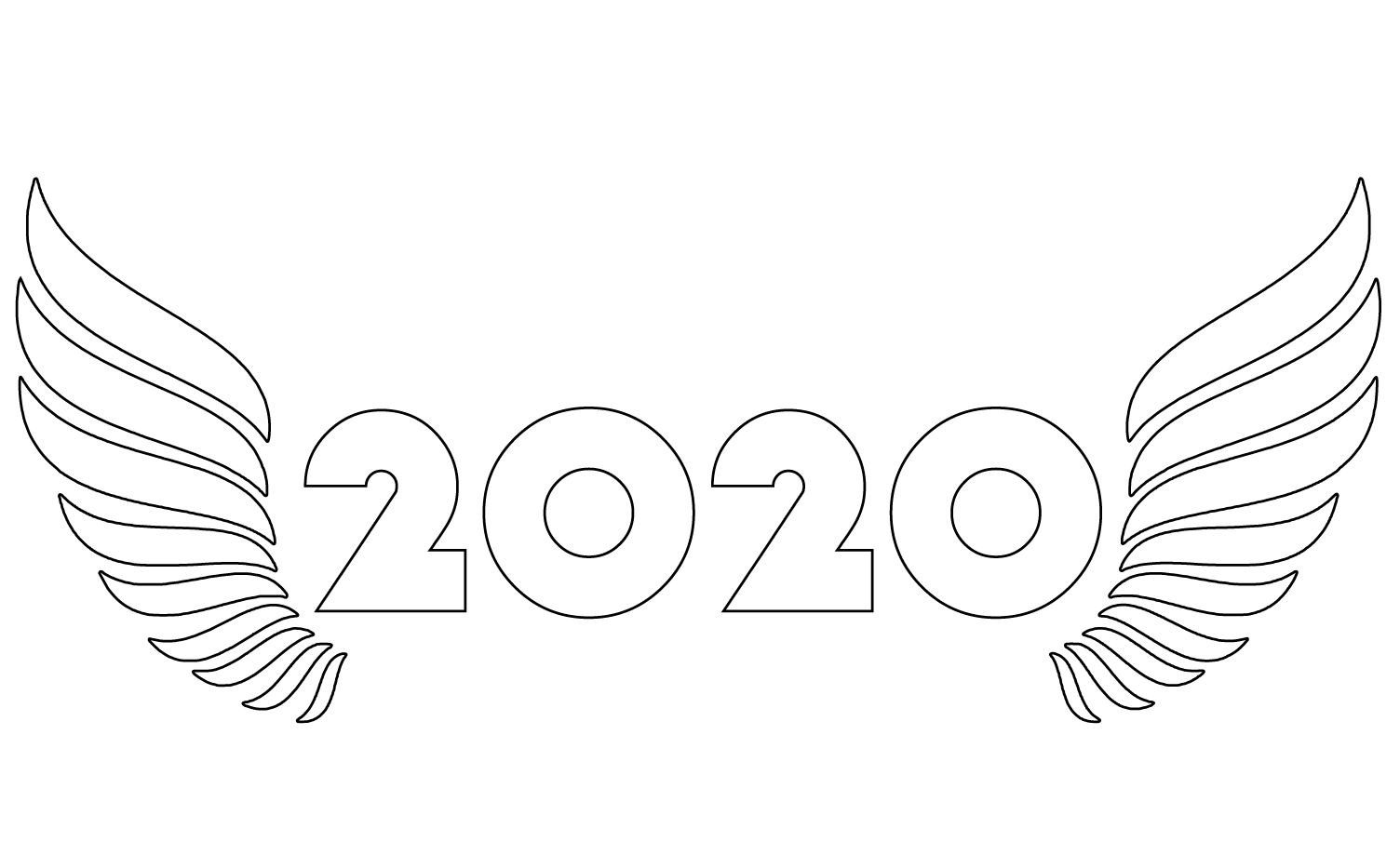 New Year Coloring Pages 2020