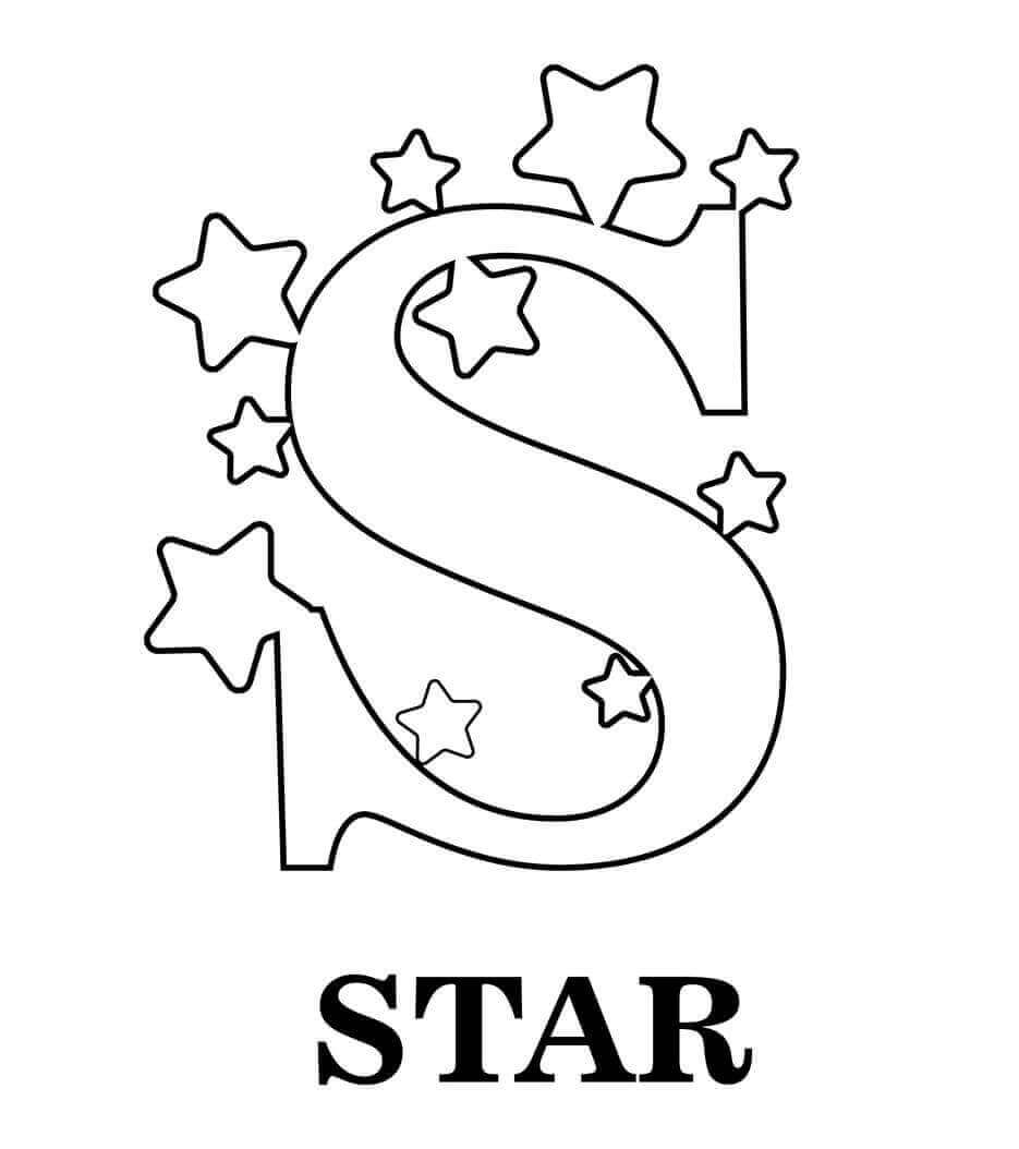 S For Star Coloring Page