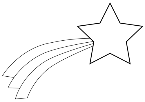 Shooting Star Coloring Page