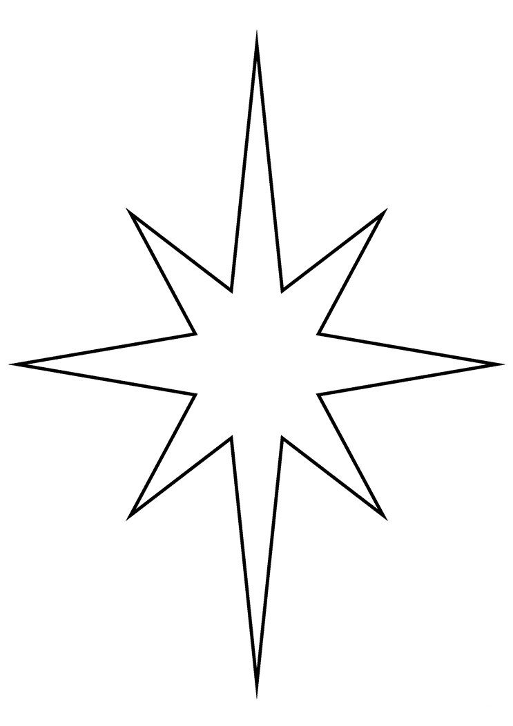Simple Christmas Star Coloring Pages