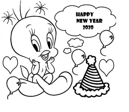 Tweety Wishing Happy New Year 2020