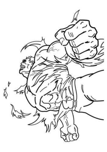 Free Printable Hulk Coloring Pages For Kids | 500x353