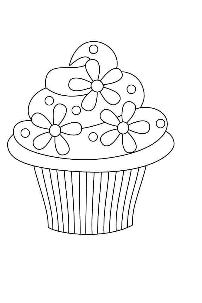 Cupcake With Floral Decoration
