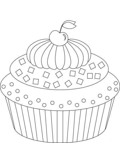 Cupcakes Coloring Pages