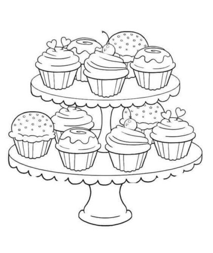 Cupcakes Coloring Pages To Print