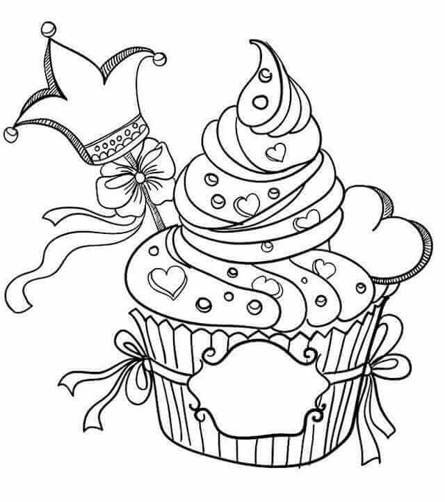 Cupcakes Colouring Pages